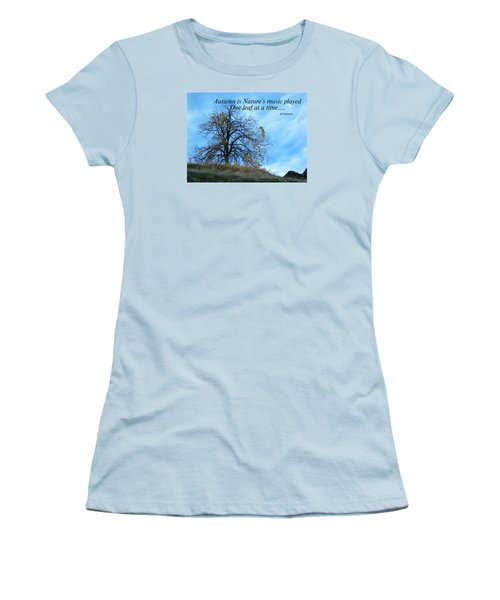 Autumn Music Women's T-Shirt (Athletic Fit)