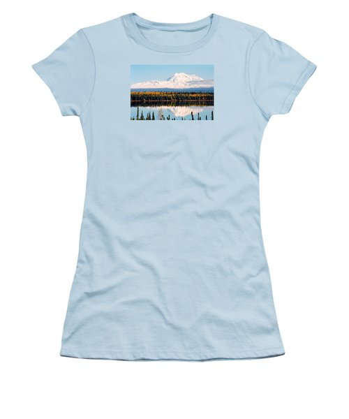 Autumn View Of Mt. Drum - Alaska Women's T-Shirt (Junior Cut) by Juergen Weiss
