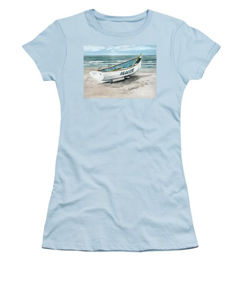Avalon Lifeguard Boat  Women's T-Shirt (Athletic Fit)