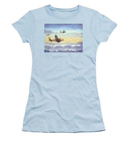 B-25 Mitchell Women's T-Shirt (Junior Cut) by Bill Holkham