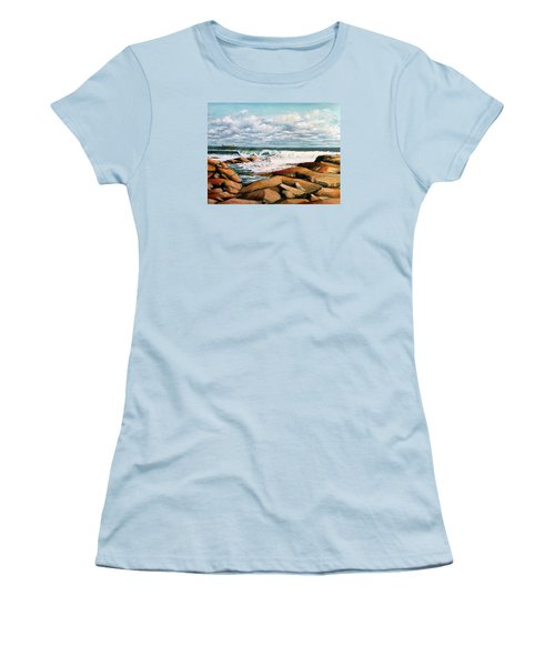 Back Shore Gloucester Women's T-Shirt (Junior Cut) by Eileen Patten Oliver