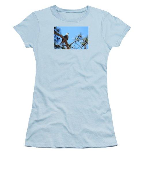 Women's T-Shirt (Junior Cut) featuring the photograph Bald Eagle by Geraldine DeBoer