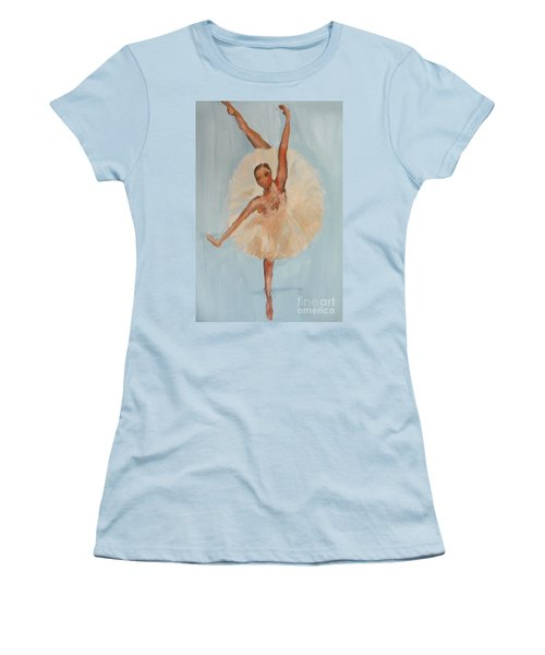 Women's T-Shirt (Junior Cut) featuring the painting Ballerina by Marisela Mungia