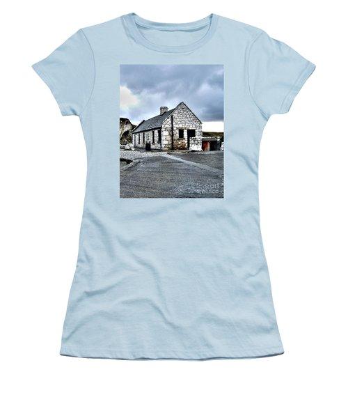 Ballintoy Stone House Women's T-Shirt (Junior Cut) by Nina Ficur Feenan