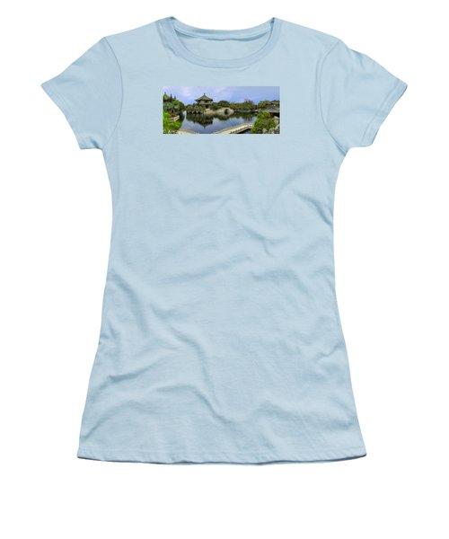 Women's T-Shirt (Junior Cut) featuring the photograph Baomo Garden Temple by Nicola Nobile