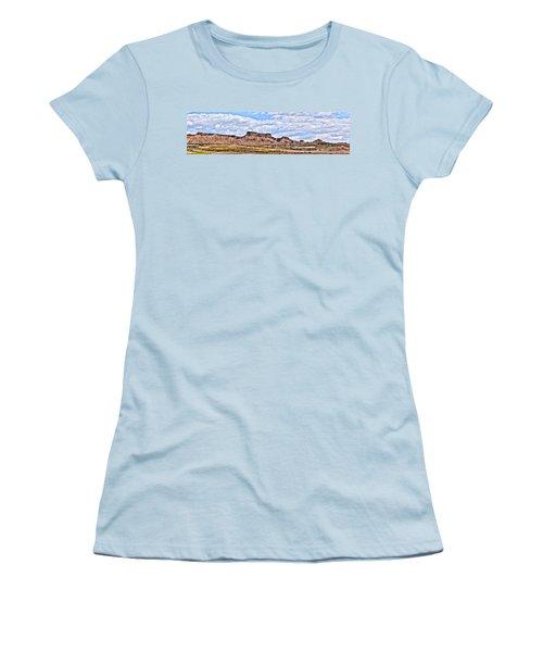 Bardenas Desert Panorama 1 Women's T-Shirt (Athletic Fit)