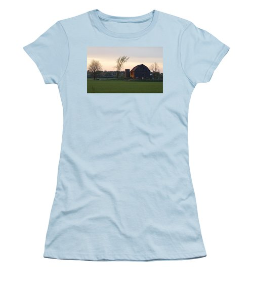 Barn At Dusk Women's T-Shirt (Athletic Fit)