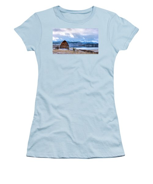 Barn At The Lake Women's T-Shirt (Athletic Fit)