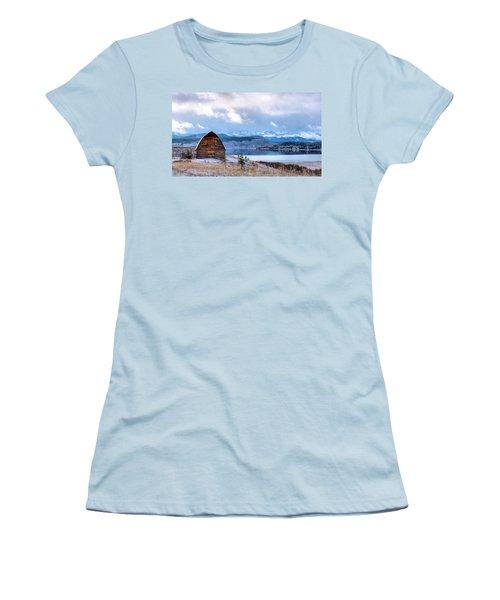 Barn At The Lake Women's T-Shirt (Junior Cut) by John McArthur