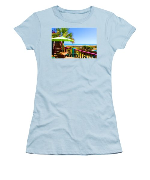 Beach View Of The Ocean By Jan Marvin Studios Women's T-Shirt (Athletic Fit)