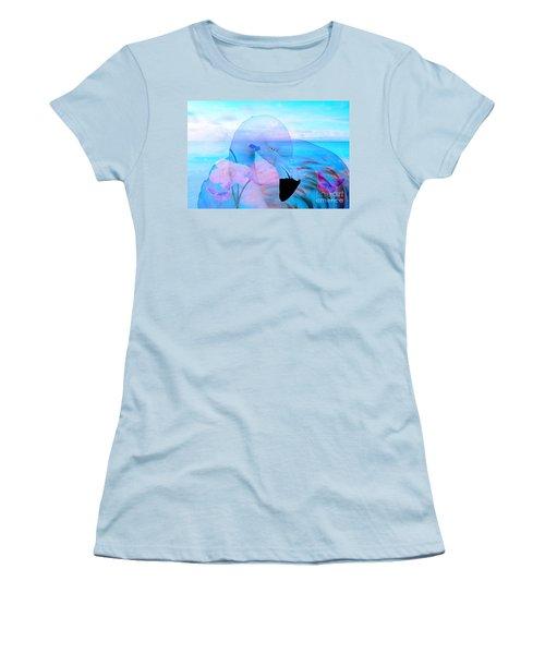 Beautiful Flamingo Women's T-Shirt (Junior Cut) by Annie Zeno