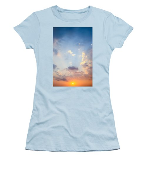 Beautiful Orange Sunset Women's T-Shirt (Athletic Fit)