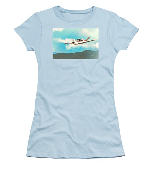 Beechcraft Bonanza V Tail Red Women's T-Shirt (Athletic Fit)