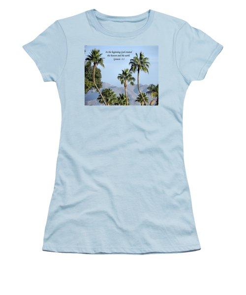 Women's T-Shirt (Junior Cut) featuring the photograph Beginning by Deb Halloran