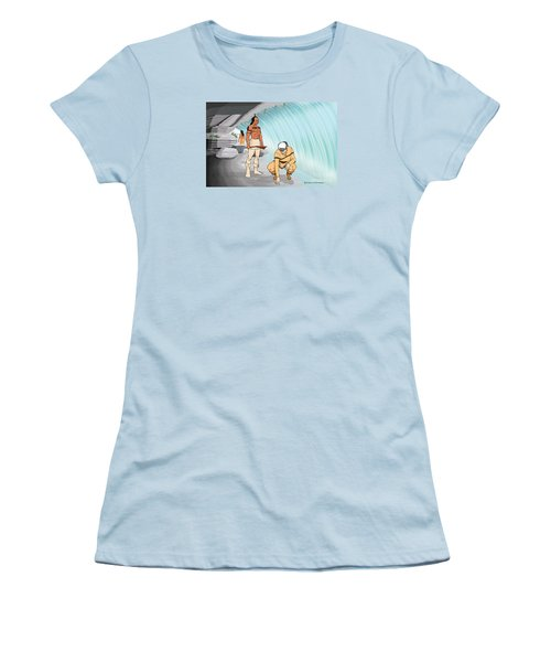 Behind The Waterfall Women's T-Shirt (Athletic Fit)