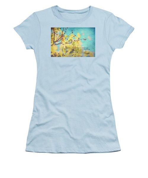 Believe In Dreams Women's T-Shirt (Junior Cut) by Toni Hopper