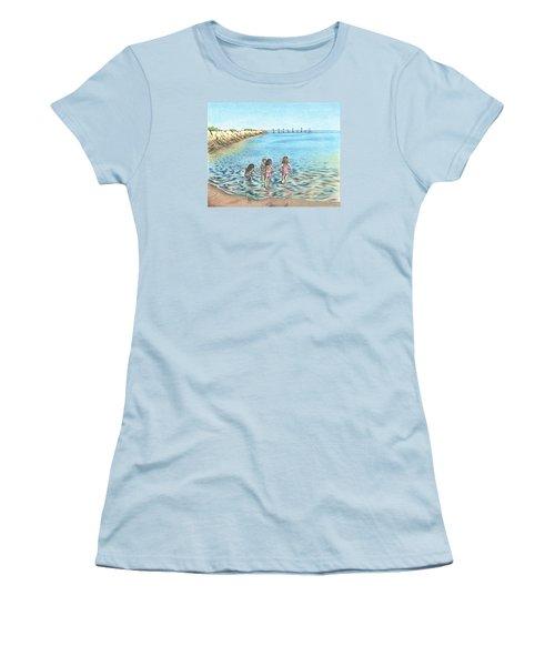 Best Friends Women's T-Shirt (Junior Cut) by Troy Levesque