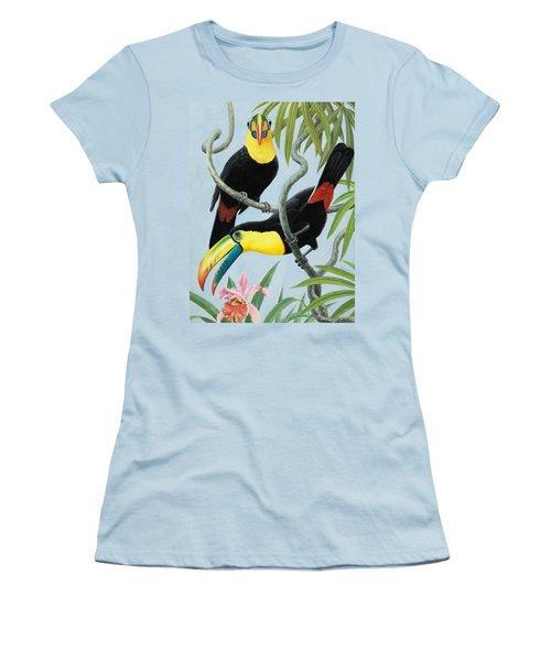 Big-beaked Birds Women's T-Shirt (Junior Cut) by RB Davis