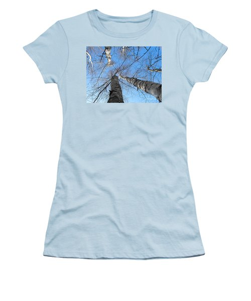Birch Group In Winter Women's T-Shirt (Athletic Fit)