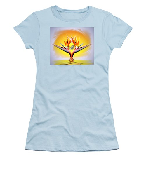 Women's T-Shirt (Junior Cut) featuring the photograph Bird Of Paradise by Joyce Dickens