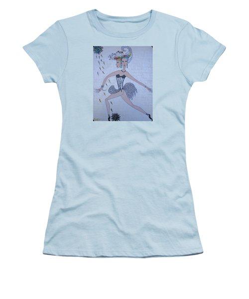 Women's T-Shirt (Junior Cut) featuring the painting Black Dahlia by Marie Schwarzer