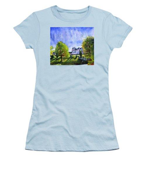Blair Castle Bridge Scotland Women's T-Shirt (Junior Cut) by John D Benson