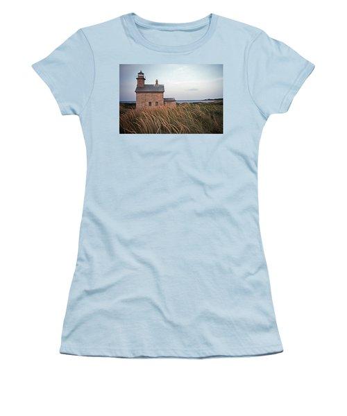 Block Island North West Lighthouse Women's T-Shirt (Junior Cut) by Skip Willits