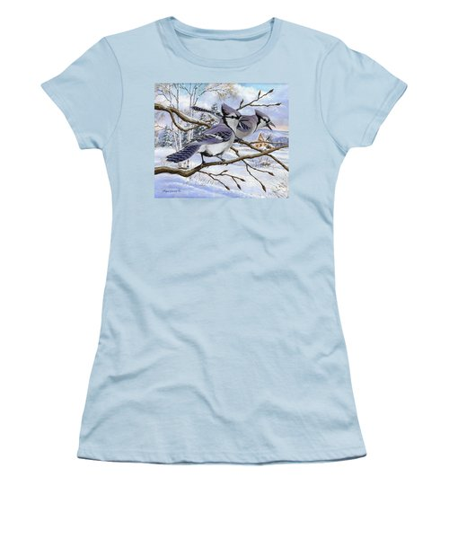 Blue Bandits Winter Afternoon Women's T-Shirt (Athletic Fit)