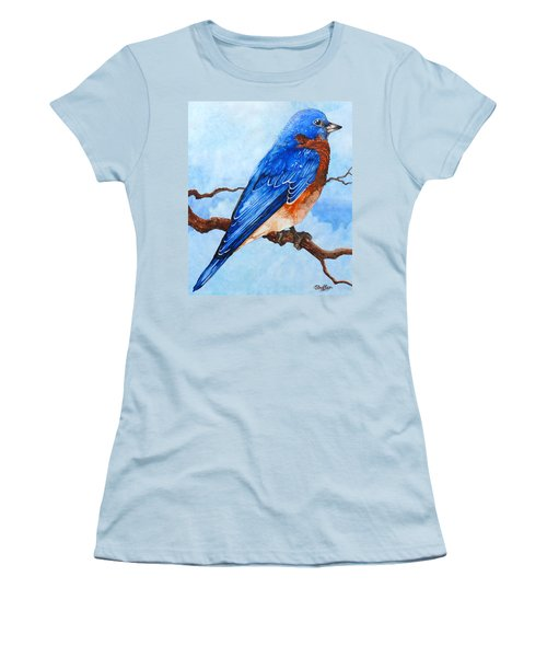 Blue Bird Women's T-Shirt (Athletic Fit)
