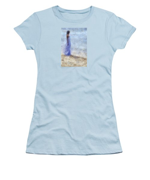 Blue Dream. Impressionism Women's T-Shirt (Junior Cut) by Jenny Rainbow