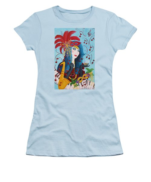 Blue Haired Lady Women's T-Shirt (Athletic Fit)