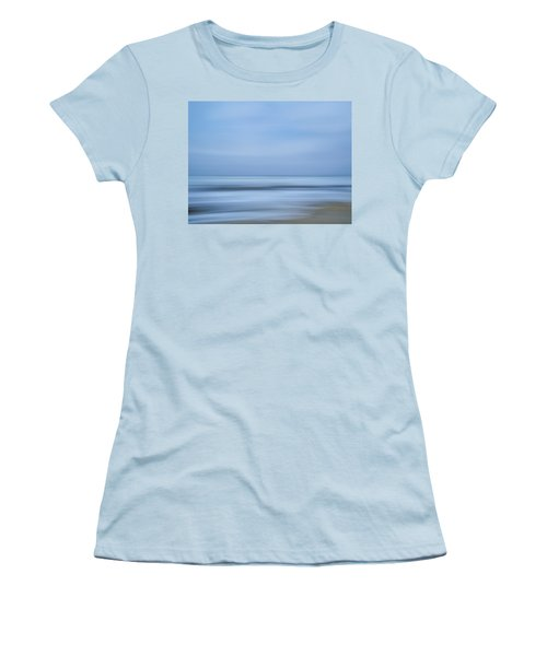 Blue Hour Beach Abstract Women's T-Shirt (Junior Cut) by Linda Villers
