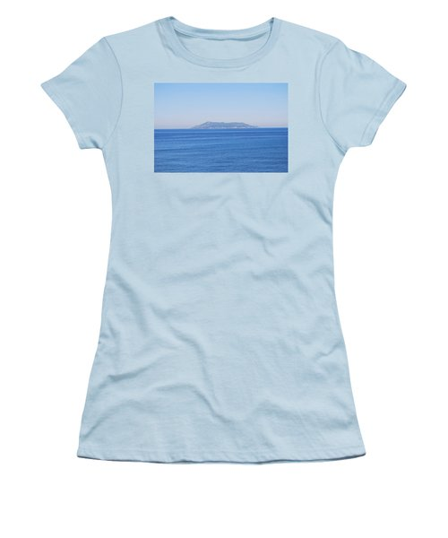 Women's T-Shirt (Junior Cut) featuring the photograph Blue Ionian Sea by George Katechis