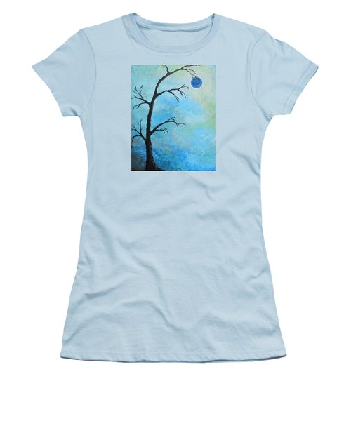 Blue Moon Women's T-Shirt (Athletic Fit)