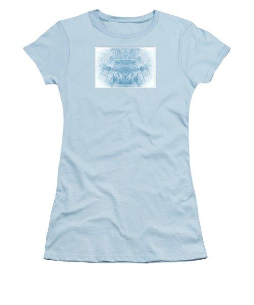 Women's T-Shirt (Junior Cut) featuring the photograph Blue Serinity by Geraldine DeBoer