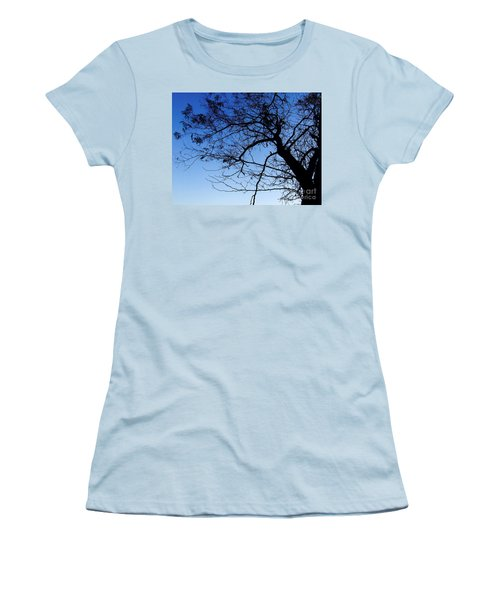 Women's T-Shirt (Junior Cut) featuring the photograph Blue Sky by Andrea Anderegg