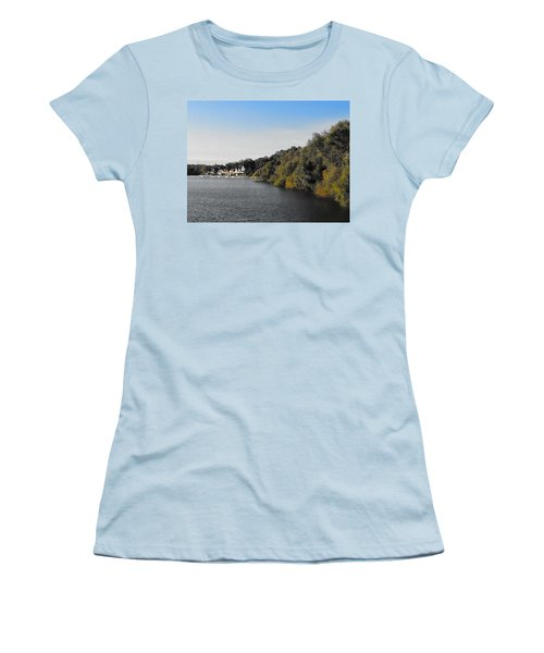 Women's T-Shirt (Junior Cut) featuring the photograph Boathouse II by Photographic Arts And Design Studio