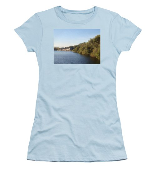 Women's T-Shirt (Junior Cut) featuring the photograph Boathouse by Photographic Arts And Design Studio