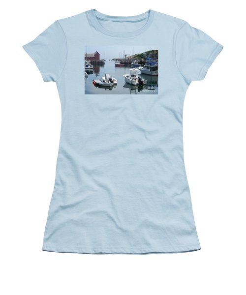 Women's T-Shirt (Junior Cut) featuring the photograph Boats On The Water by Eunice Miller