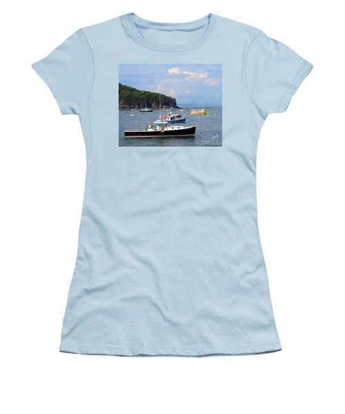 Boats In Bar Harbor Women's T-Shirt (Athletic Fit)