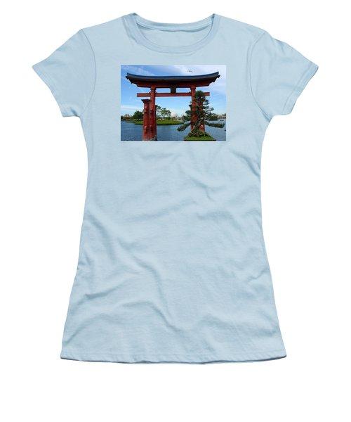 Women's T-Shirt (Junior Cut) featuring the photograph Bonsai Pavillion by David Nicholls