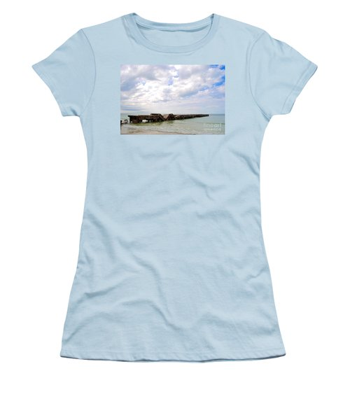 Bridge To Nowhere Women's T-Shirt (Junior Cut) by Margie Amberge