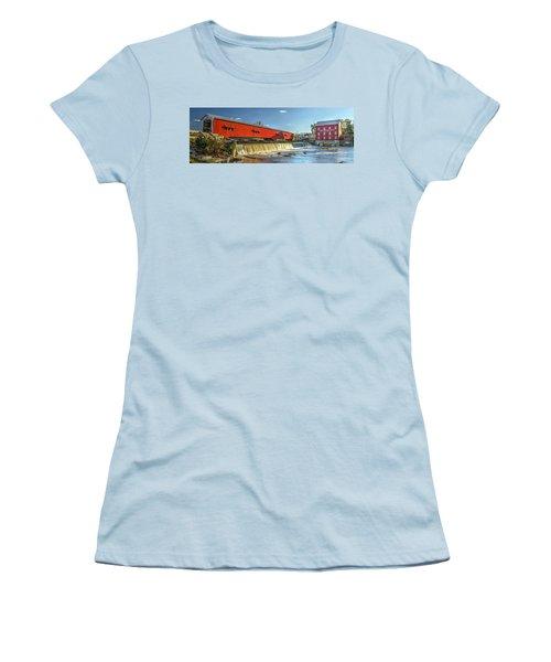 Bridgeton Bridge And Mill Women's T-Shirt (Junior Cut) by Harold Rau