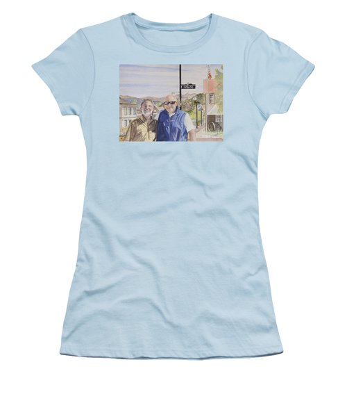 Women's T-Shirt (Junior Cut) featuring the painting Bros by Carol Flagg