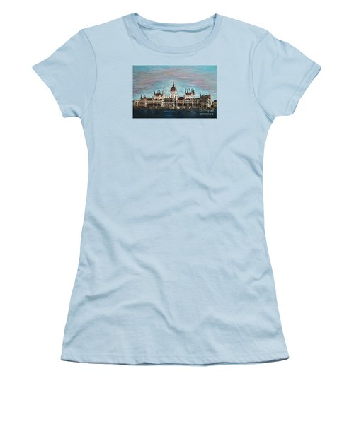 Budapest Parliament By Jasna Gopic Women's T-Shirt (Junior Cut) by Jasna Gopic