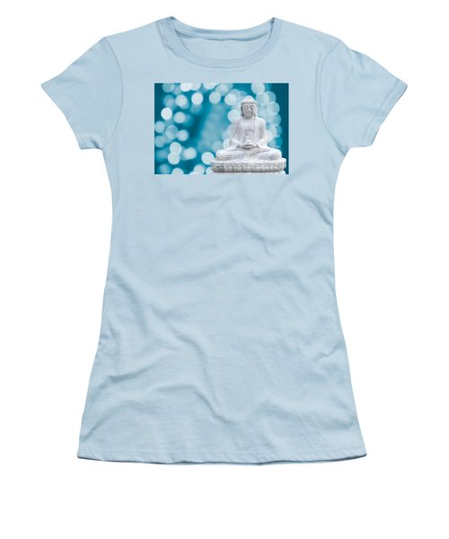 Buddha Enlightenment Blue Women's T-Shirt (Athletic Fit)