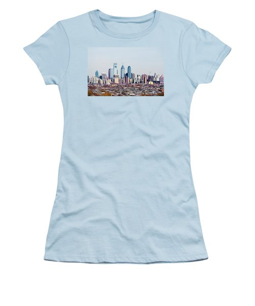 Buildings In A City, Comcast Center Women's T-Shirt (Junior Cut) by Panoramic Images