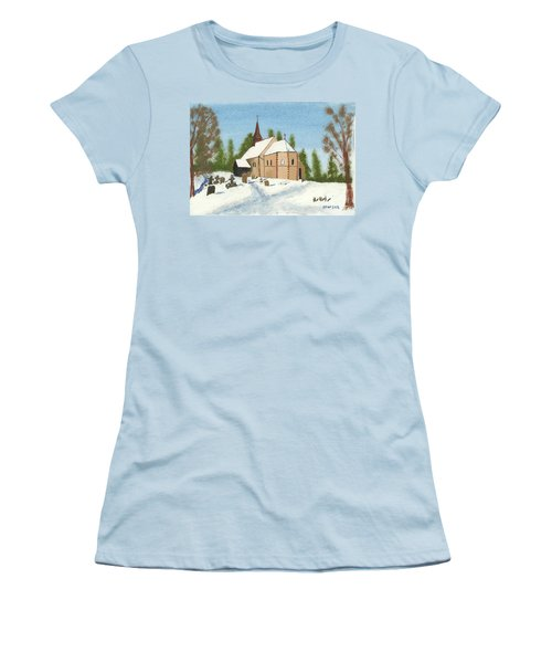 Bulley Church Women's T-Shirt (Junior Cut) by John Williams