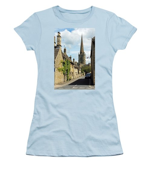 Burford Village Street Women's T-Shirt (Athletic Fit)