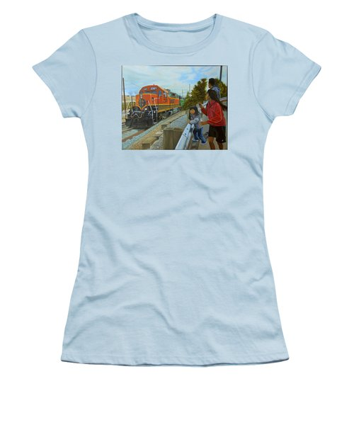 Burlington Northern Santa Fe Women's T-Shirt (Athletic Fit)